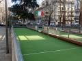 Mailand - Boccia-Bahn auf der Via Morgagni