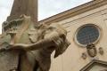 Rom -  Bernini Elefant vor der Basilica de Santa Maria Sopra Minerva